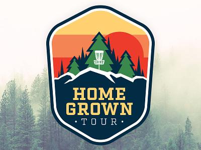 Homegrown Tour Logo disc golf outdoors logo