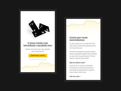 Landing Page In-App mobile clean storytelling graphic app fintech finance in-app minimalist ui landingpage xp