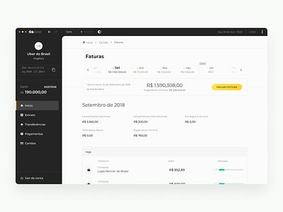 Internet Banking - UI finance dashboard design webdesign internet banking web fintech ui platform ipad dashboad