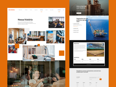 Company Web - UI orange design cruz white clean brazil web design desktop company ui website web