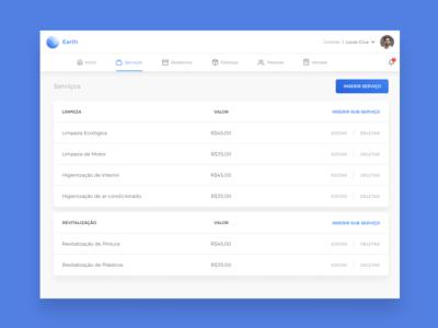 Dashboard - Listing