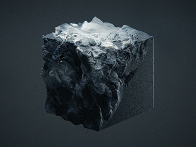 The flow dailyrender 3dart maxon everydays dark cube abstract particles render arnold c4d 3d