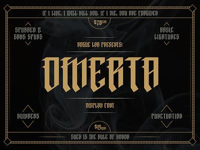 Omerta Display Font font design blackletter display font font