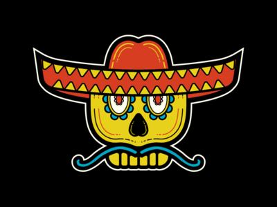 Sugar Skull moustache sugar sombrero mexican illustrator sugar skull skull