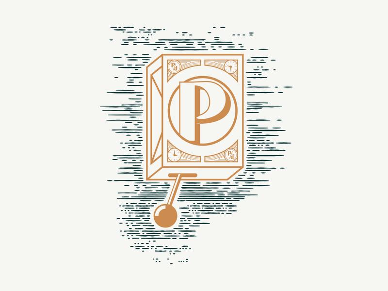 Pendulum illustrator illustration brand identity etching clock design pendulum