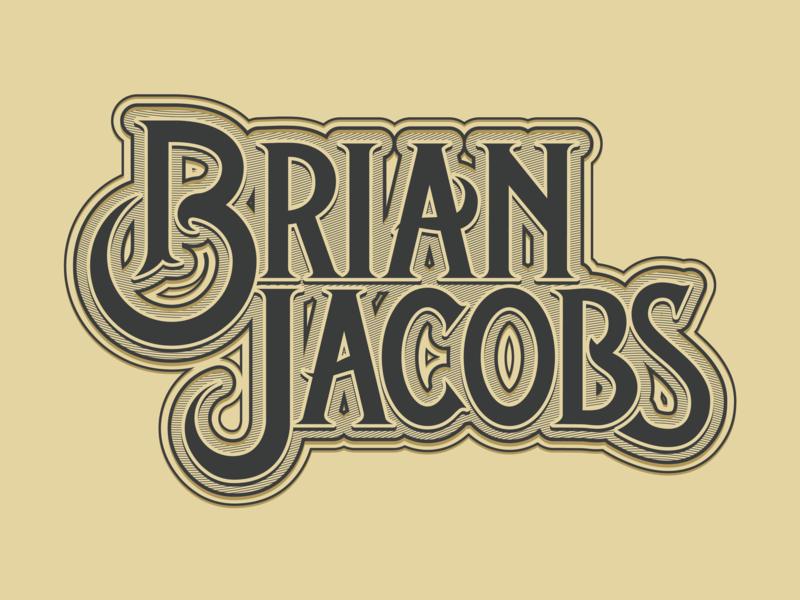 Brian Jacobs Logo type treatment brand identity brand country music logo