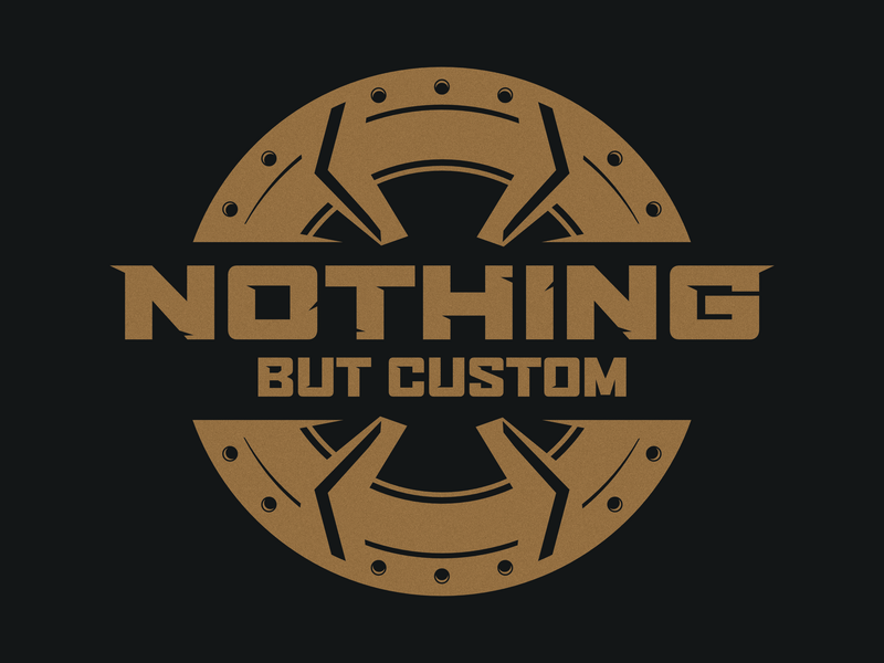 Nothing But Custom Logo custom auto service automotive logo automotive vector typography brand visual identity brand identity branding design logo illustrator