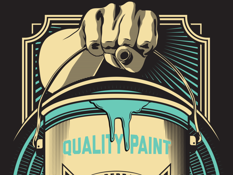 Paint Can - Hildebrand Finishing hand paint can paint print design typography vector visual identity brand identity branding illustration design illustrator