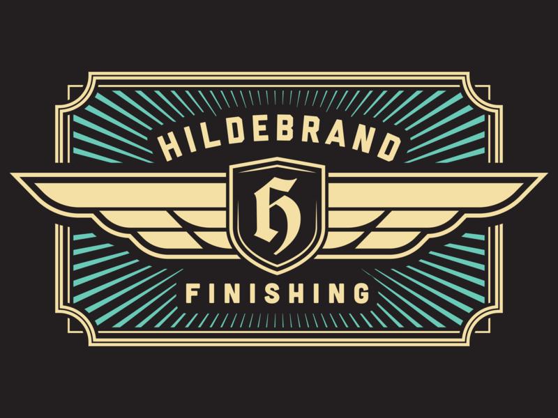 Logo Lockup - Hildebrand Finishing lock print design paint print lockup badge brand vector visual identity brand identity branding logo design illustrator