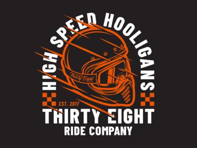 High Speed Hooligans t-shirt graphics speed hooligans thirty eight illustration helmet ride