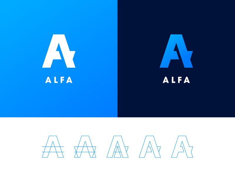 ALFA challenge letter identity logotype logo