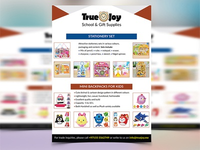 Kid's Product Flyer Design