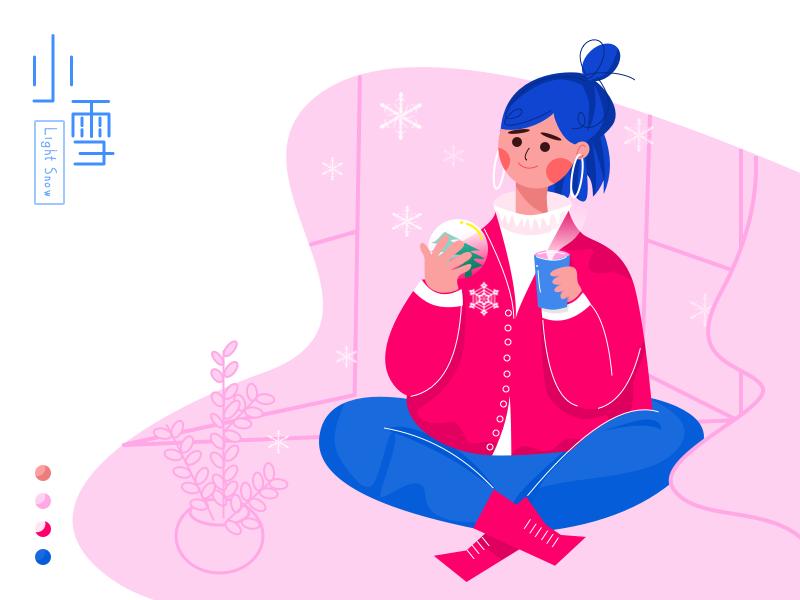 Light Snow girl illustrations
