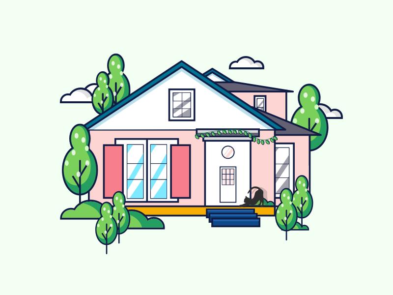 dream house house illustrations