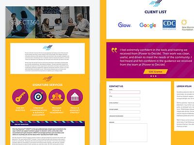 Services Page ux ui web design responsive design product site web interaction
