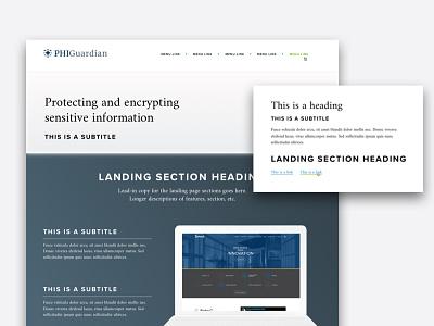 Landing Page Concept landing web site product responsive design web design ui ux