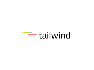 Tailwind logo visual design branding logo