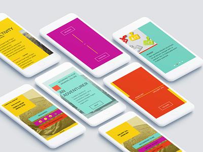 Museum mobile app UI app interaction mobile design product ux site ui