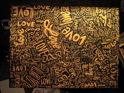 Lost in Love hand lettering handletterin illustration repeating pattern type typography painting love lost painted illustrated handlettering