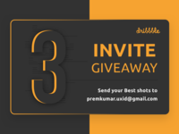 Dribbble Invitation Giveway