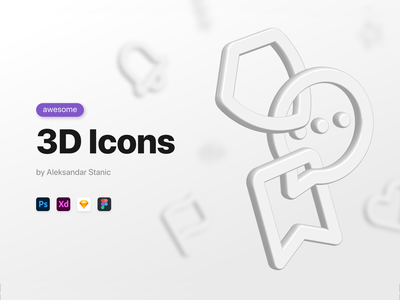 Awesome 3D Icons soft ui icons soft ui neumorphic icons skeuomorphic icons ui icons awesome icons 3d ui 3d neumorphic skeumorphic ui elements 3d icon set icons 3d icons