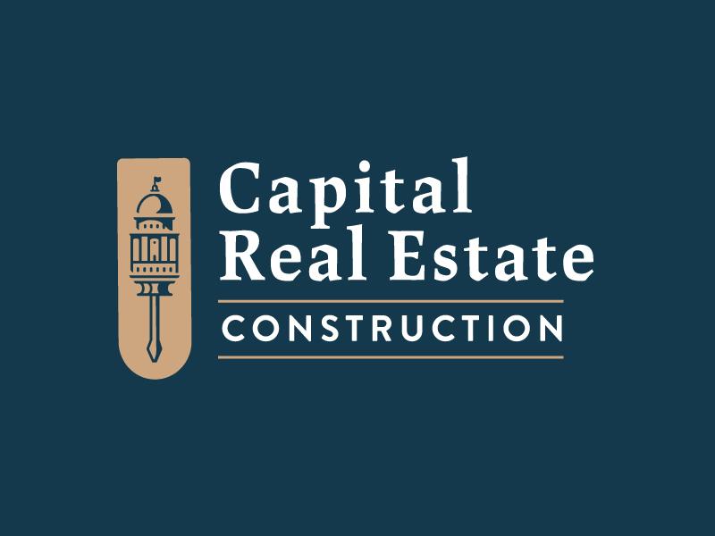 Construction Logo estate capital simple tool construction logo