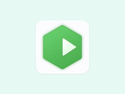 Node.js Runner triangle shadow green icon node.js mac
