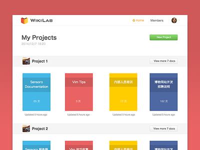WikiLab flat projects documentation
