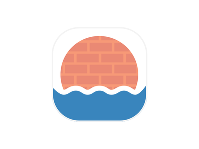 The Wall brick wall wave icon ios