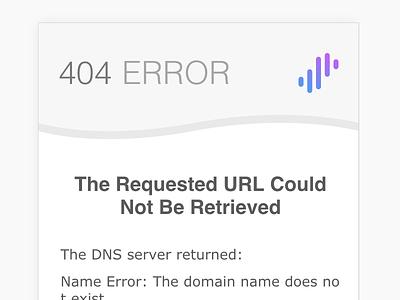 Error Page for Surge surge error