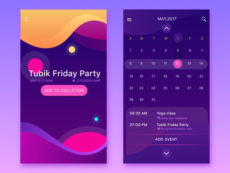 Calendar Design Application : Nancy gui dribbble