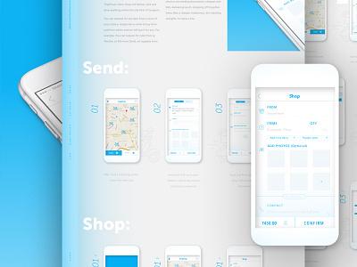 TingTong gurgaon iphone icon blue ux ui layout design branding india app ios