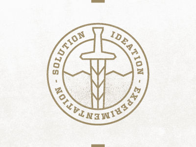 Ideation gold texture badge