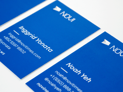 Novi - Card business card blue