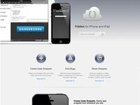 Fiddles website redesign