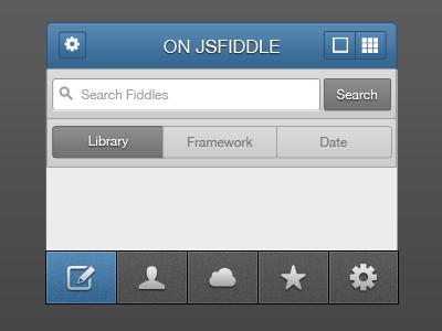 Fiddles v0.85 UI fiddles js fiddle app iphone design ui client ios mockup