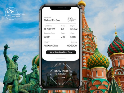Daily UI 0024 : Boarding pass