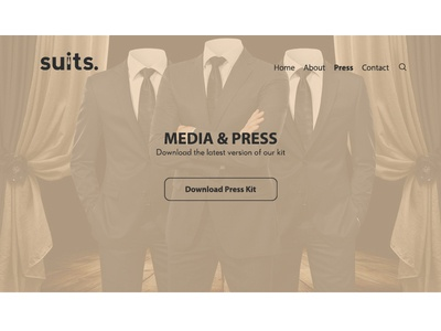 Daily UI 051 : Press page