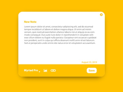 Daily ui 65: Notes widget