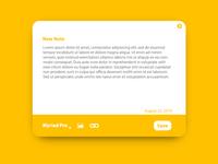 Daily ui 65: Notes widget