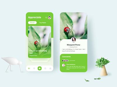 Plant iphone x ui design app ios
