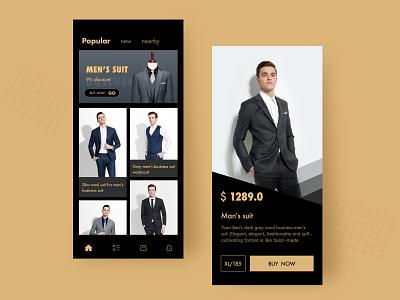 App for man suits lover ux icon ui app iphone x ios design