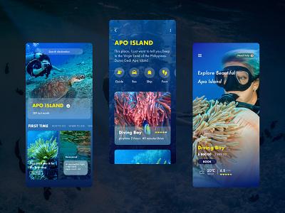 Seaworld design app ios ui iphone x