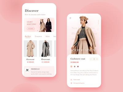 clother stores ux ui iphone x app ios design
