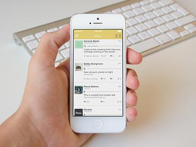 Lissn app ui user interface flat ios7 interface