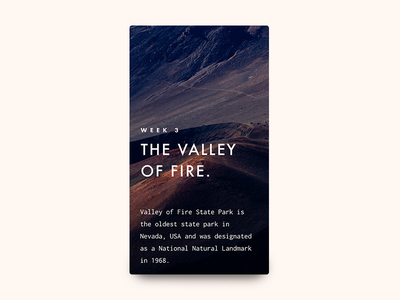 The Valley Of Fire cover book typography interface article blog app mobile experience ux ui