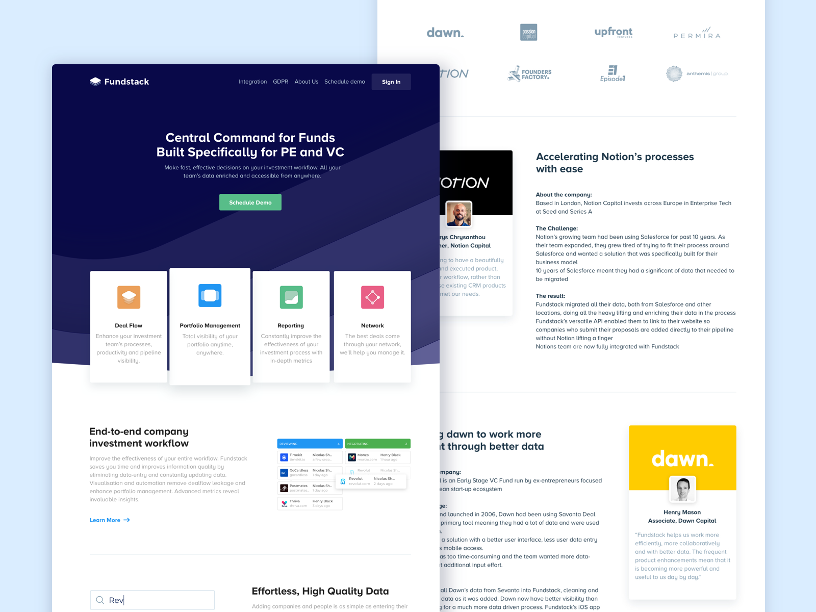 New Landing Pages for Fundstack