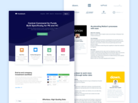New Landing Pages for Fundstack cards logo design user interface landing page flat icon web ux interface ui