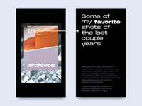The Archives layout design editoral typograp photograhy
