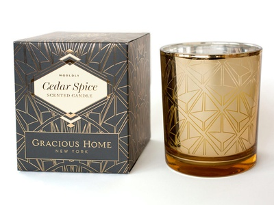 Gracious Home Scented Candles graphic design brand design cpg logo design packaging design
